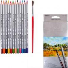 Олівці кольорові 12 штук MARCO 7120/12CB акварельні