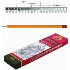 Олівець чорнографітний 2Н KIN 1500