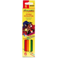 Олівці кольорові 6 штук MARCO 1010-6CВ Пегашка