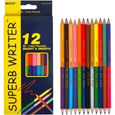 Олівці кольорові 12 штук/24 кольори MARСO 4110-12СВ