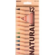 Олівці кольорові 12 штук MARCO 6100-12CB Natural