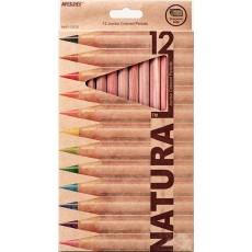 Олівці кольорові 12 штук MARCO 6400-12СВ Jumbo Naturale