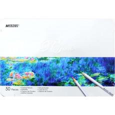 Карандаши цветные 50 штук MARCO 7100/50TN Raffine