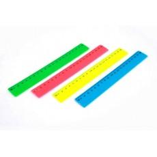 Лінійка 20 см MF2038-20 пластикова кольорова