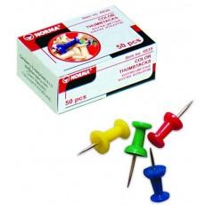Кнопки канцелярські Norma 4839  кольорові 50 штук