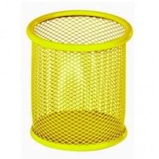 Підставка для ручок ZB.3100-08 90*90*100мм кругла металева, жовта