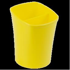 Підставка для ручок ZB.3001-08 2 відділення, жовтий Kvadrik