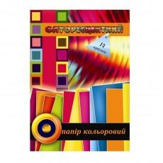 Папір кольоровий А4 14 аркушів Фолдер флуорисцентний