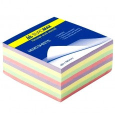Папір для записів 80*80мм ВМ.2273 330 аркушів не склеєний, кольоровий