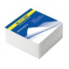 Папір для записів 80*80мм ВМ.2200 330 аркушів склеєний, білий