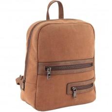 Рюкзак молодіжний Dolce Kite 17-2501XS-1 замшевий, коричневий,2 блискавки