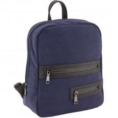Рюкзак молодіжний Dolce Kite 17-2501XS-2 замшевий, синій,2 блискавки