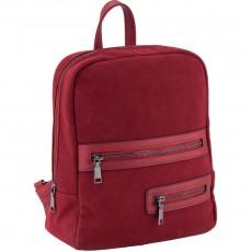 Рюкзак молодіжний Dolce Kite 17-2501XS-3 замшевий, бордовий,2 блискавки