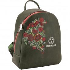Рюкзак молодіжний Dolce Kite 17-2512XS-2 шкірзам сірий,кольорова вишивка