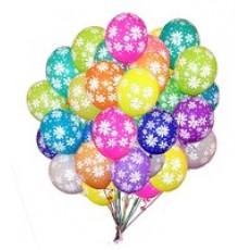 Кулька надувна 30см Ромашка, Метелик, Смайлик, Жучок, Салют,Горошок