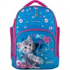Рюкзак шкільний Kite K20-706M R Education каркасний голубий з квітами